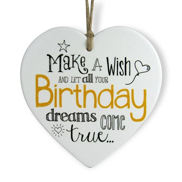 Birthday Wish Heart Quotation