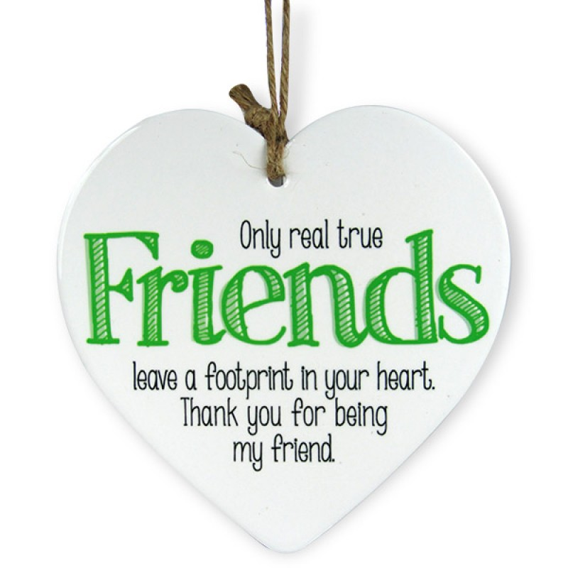 Thanks For Being My Friend Heart Quotation