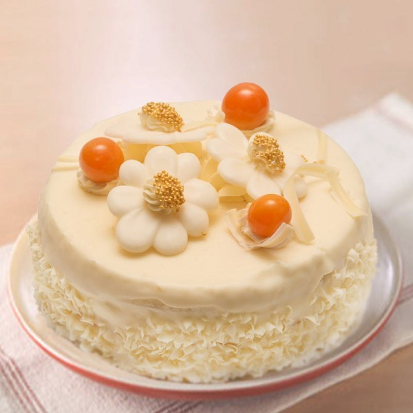 Half Kg Sugarfree White Forest Cake