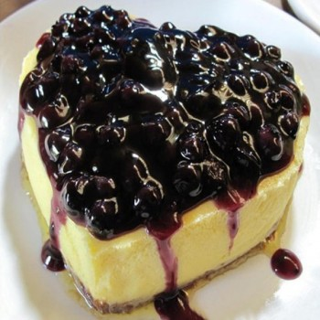 Blue Berry Heart Shape Cheesecake