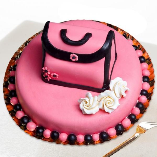 2 Kg Designer Hand Bag Fondant Chocolate Cake
