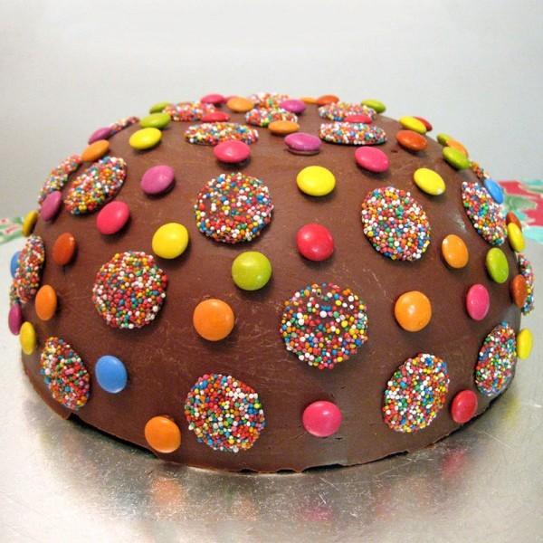 One Kg Rainbow Gems Chocolate Cream Cake