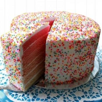 Half Kg Rainbow Vanilla Cream Cake