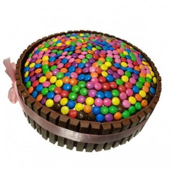 Half Kg Rainbow KitKat Gems Chocolate Cake