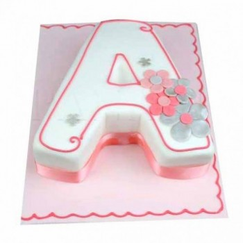 2 Kg Fondant Vanilla Alphabet Cake
