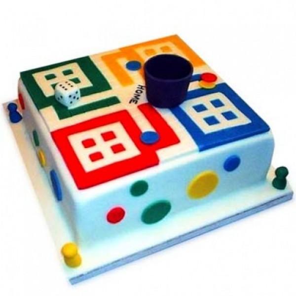 Ludo Theme Cake