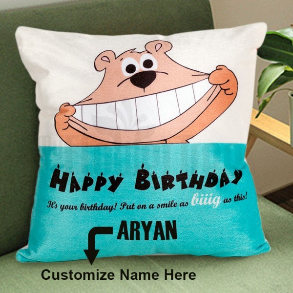 Personalised Name Cushion for Birthday