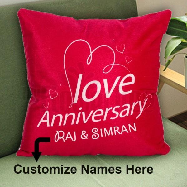 Anniversary Personalised Name Cushion