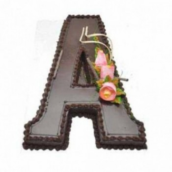 3 Kg Alphabet Letter Chocolate Cream Cake