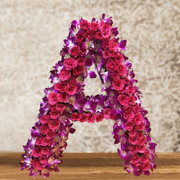 Floral Arrangement of 60 Pink Roses and 12 Purple Orchids