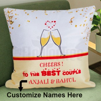 Cheers to the Couple Cushion