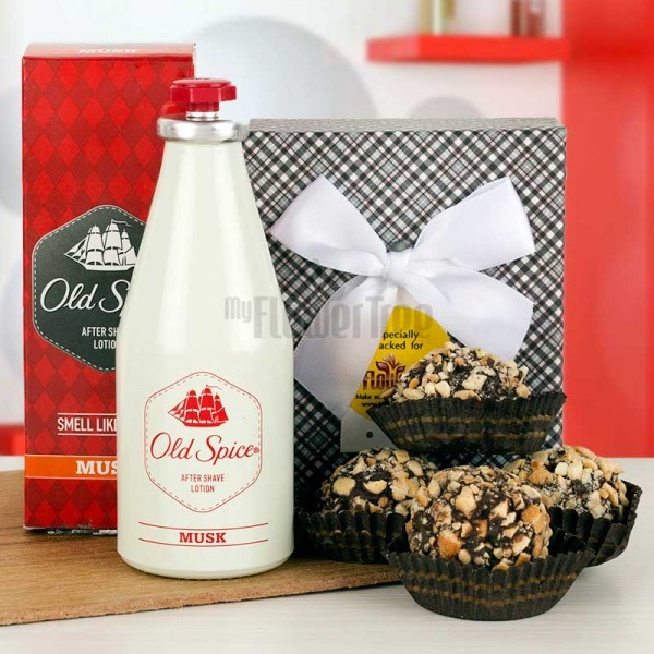 Old Spice Chocolate Hamper