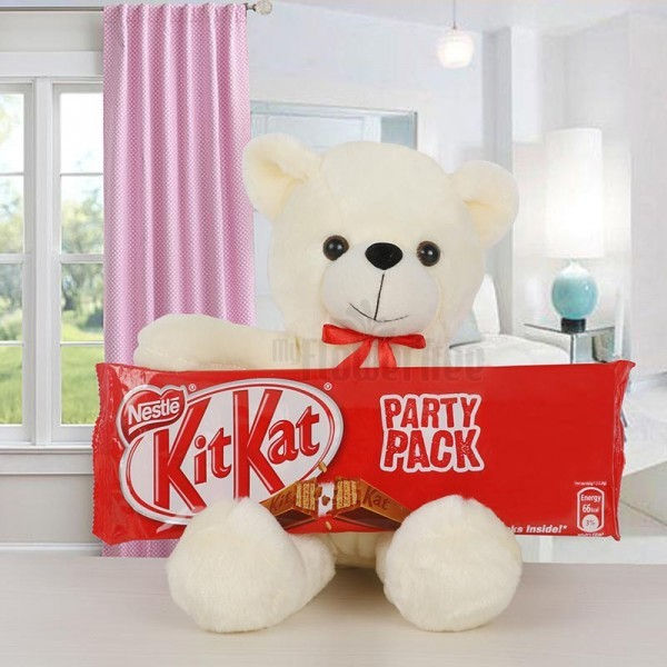 Teddy Bear with Kitkat Chocolate Pack