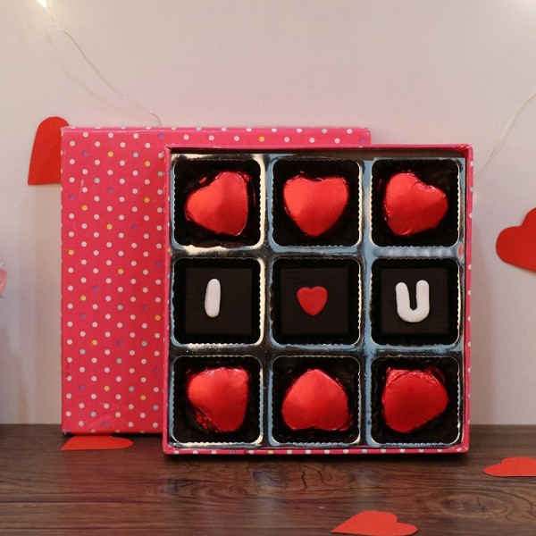 9 Assorted Heart Shape Chocolates