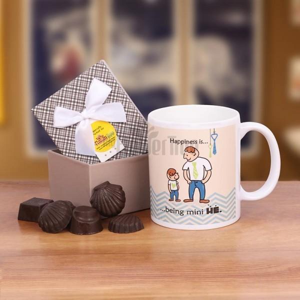 Homemade Chocolate Pack with Coffee Mug for Dad