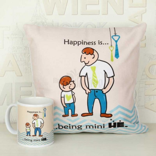 Be Like Him Printed Mug and Cushion