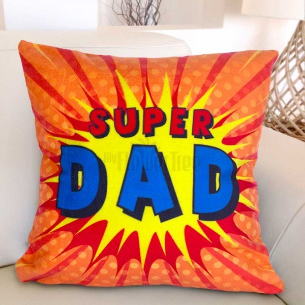Super Dad Printed Cushion