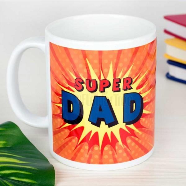 Super Dad Printed Coffee Mug