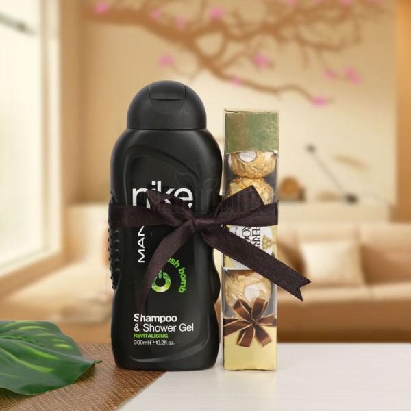 Nike Gel with 4 Pcs Ferrero Rocher Chocolate