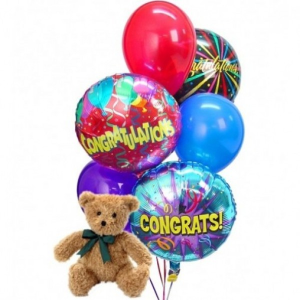 Teddy Bear with Ballons