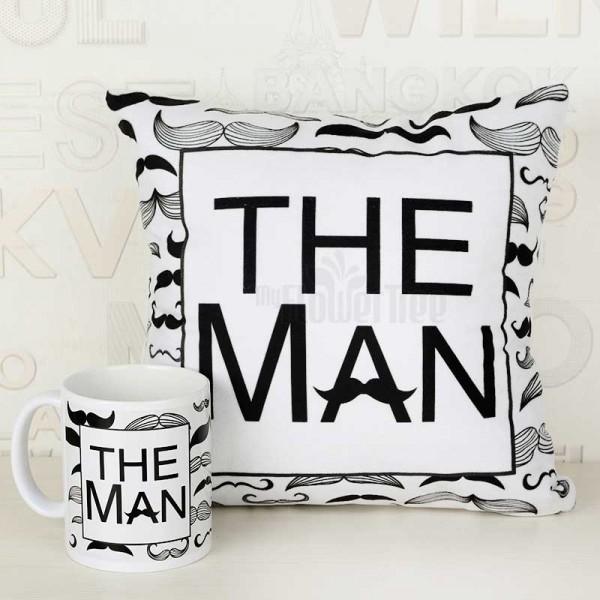 The Man Printed Mug and Cushion