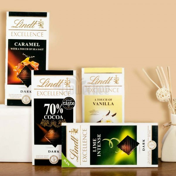 Pack of 4 Lindt Chocolates 100 gm Each