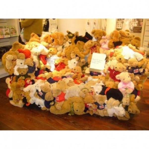 Room full of teddies including 2 Teddy Bears (18 Inches) 8 Teddy Bears (12 Inches) 10 Teddy Bears (6 Inches)