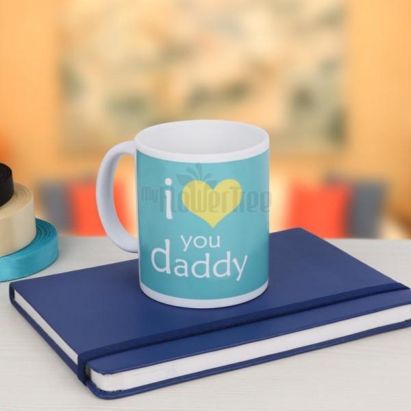 Blue Diary with Coffee Mug