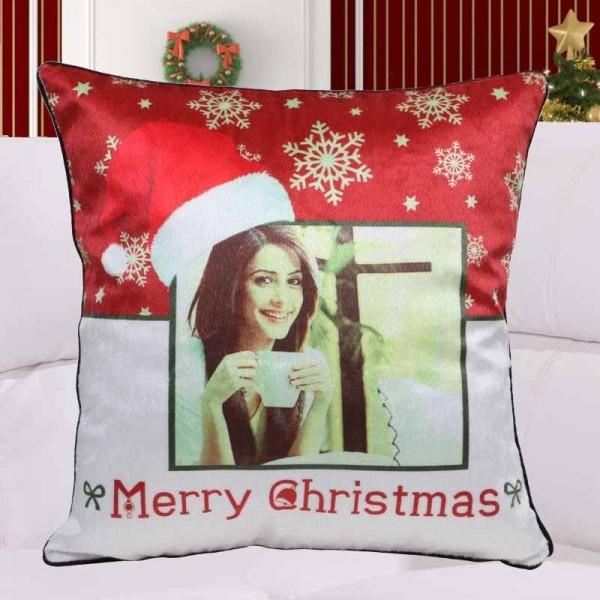 Personalised Photo Cushion for Christmas