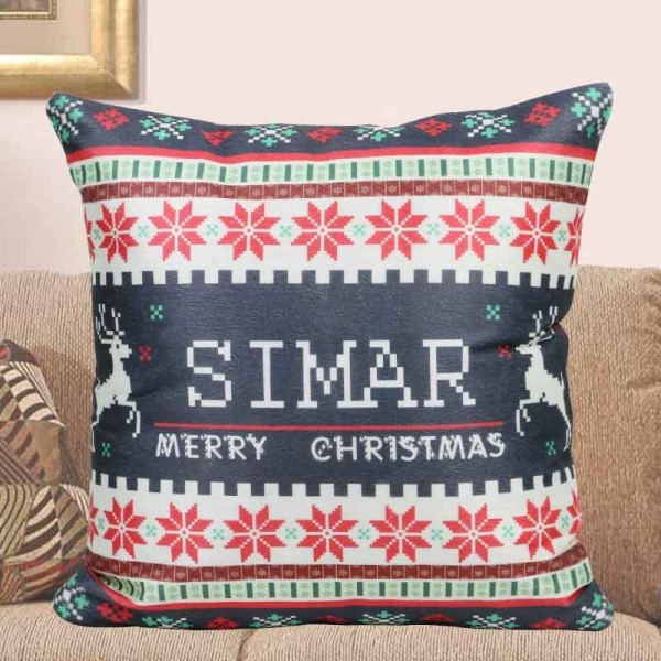 Personalised Name Cushion for Christmas