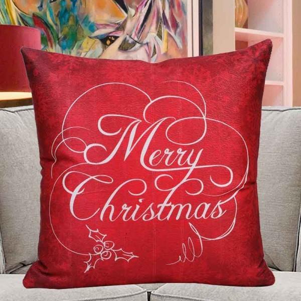 Merry Christmas Printed Cushion