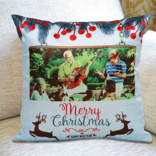 Personalised Photo Cushion for Christmas