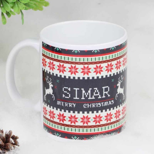 Personalised Name Mug for Christmas