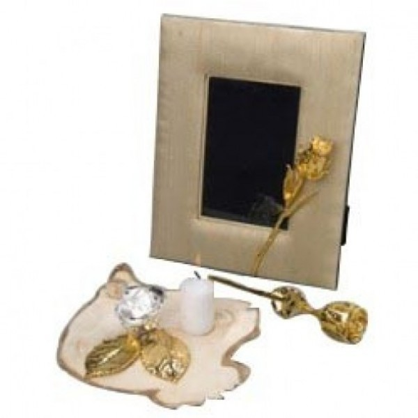 Gold Roses with Frame