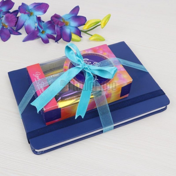 Blue Diary with Small Celebration Pack