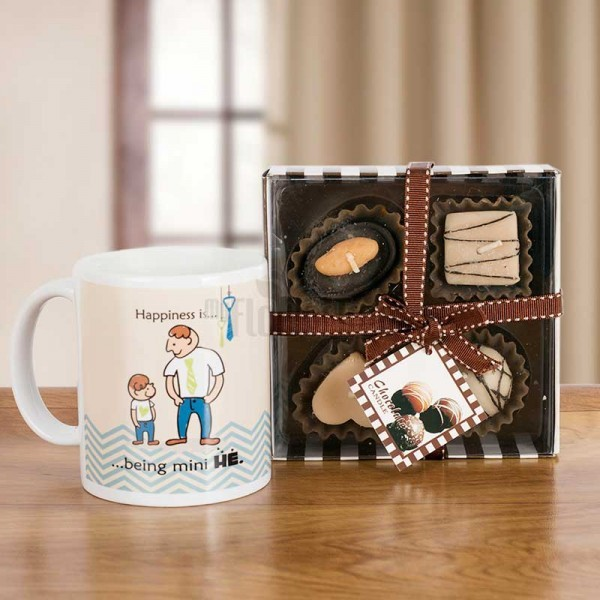 Chocolate Mug Candle Hamper
