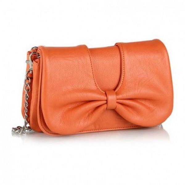Orange Designer Wallet Handbag for Women
