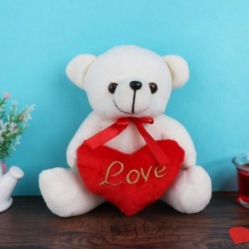 One Teddy Bear with Heart