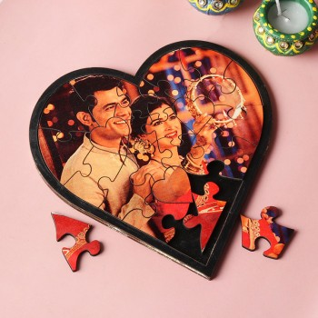 One Heart Shaped Puzzle for Karwa Chauth