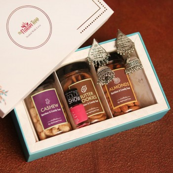MFT Signature Box of Dryfruit Jars, Nail Paint and Earrings