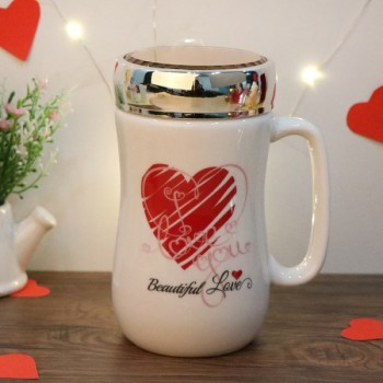 One White Handle Designer Mug