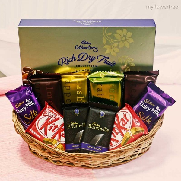 Mixed Chocolate Hamper Basket
