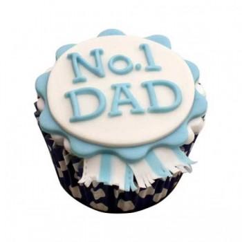 Set of 4 Designer Vanilla Fondant Cupcakes for Dad