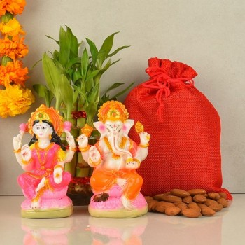 Laxmi Ganesha and Almond pack for Diwali
