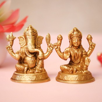Metal Lakshmi Ganesha Idols