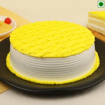 Tropical Pineapple Eggless Cake