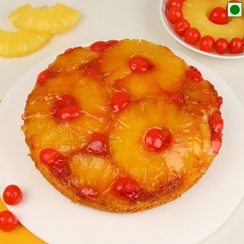 1 kg Pineapple Fruit Eggless Dry Cake