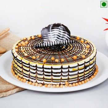 Exotic Butterscotch Eggless Cake