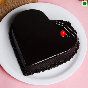 Half Kg Eggless Heart Shape Chocolate Cake