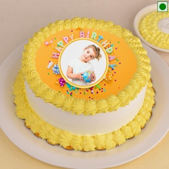 1 Kg Eggless Photo Printed Cake